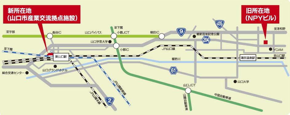 移転後の地図